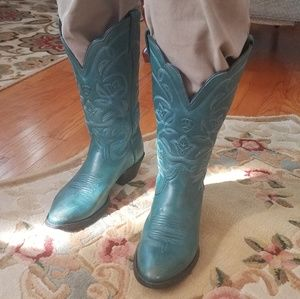 Leather Cowgirl boots - Turquoise - Ariat.com